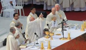 POPE FRANCIS  AT COPACABANA BEACH
