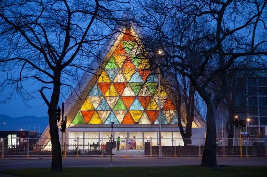 cathédrale en papier de Christchurch en Nouvelle Zélande