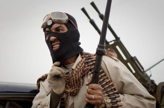 A Libyan rebel