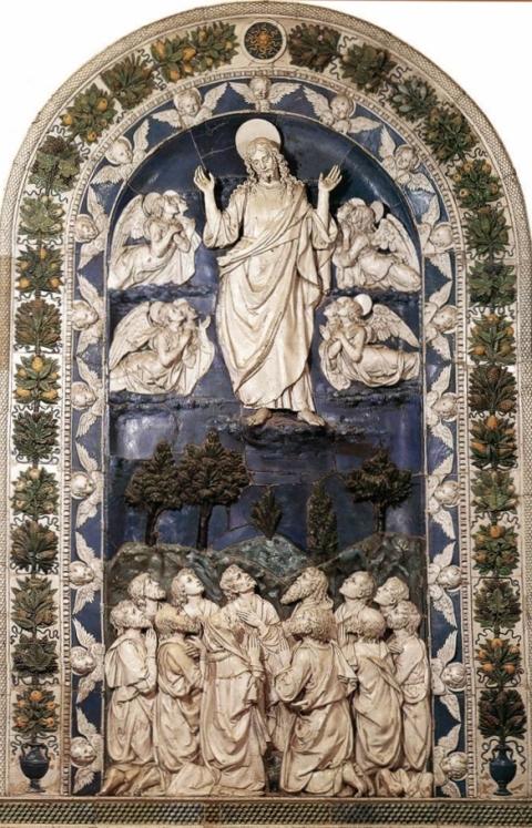 ascensao Andrea della Robbia (c. 1490), Igreja Maior, La Verna