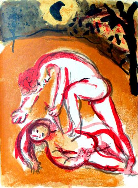 L'albero della vita (2) Chagall Cain Abel