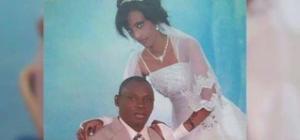 Meriam con il marito il giorno delle nozze