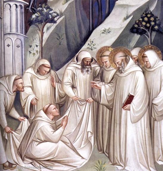Spinello Aretino, Miracolo del risveglio di un monaco, 1388, affresco, San Miniato al Monte, Firenze