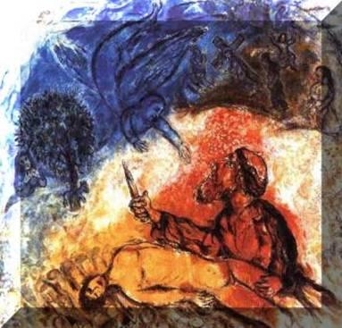 L'albero della vita 10 - marc chagall - sacrificio di isacco