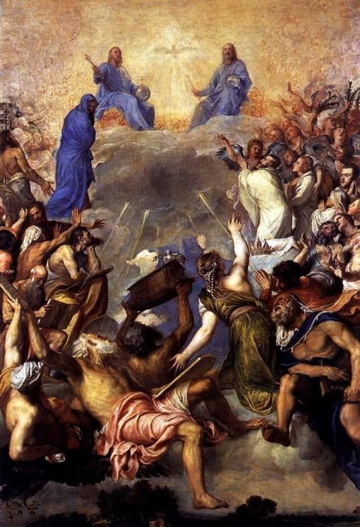 Vecellio Tiziano, A Trindade na glória (1552-54)