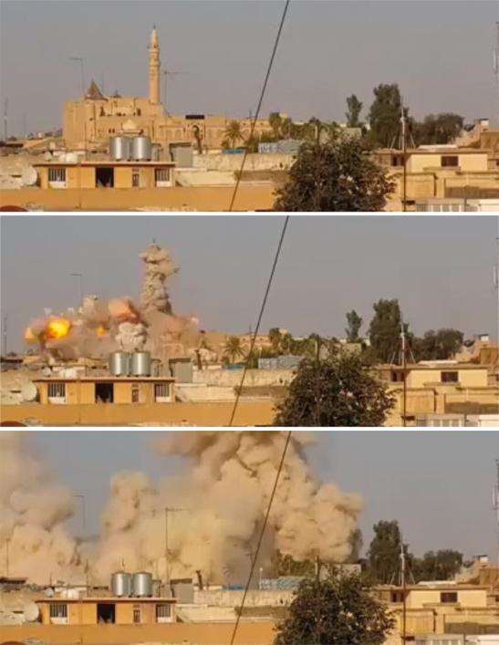 Iraq, distruzione della moschea del Profeta Giona 1